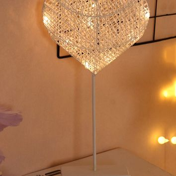 10PC Bulbs Heart Shaped Table Lamp