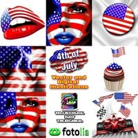 4th of July Illustrations © BluedarkArt | Fotolia Portfolio