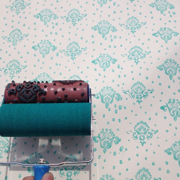 Patterned Paint Roller in Petite Damask design and Applicator by NotWallpaper Patterned Paint Rollers