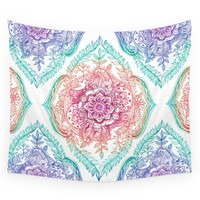 Society6 Indian Ink - Rainbow Version Wall Tapestry