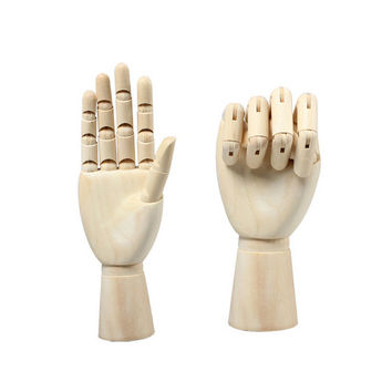 Artist Wooden Hand for Display 8 10 12 Inches Adjustable Wooden Mannequin Hand Artists Sketch Drawing Display Decor Wooden Hand for Display