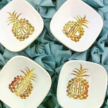 Bridesmaid Ring Dish, Jewelry dish, Pineapple Bachelorette, Bridesmaid gift
