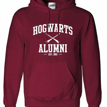 Harry Potter Hogwarts Alumni fan art unisex Hoodie sweatshirt pullover, jumper sweater pocket