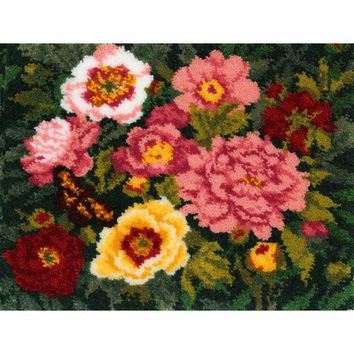 "Peonies Latch Hook Kit 32""X25"""
