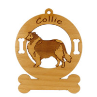 2183 Collie Rough Standing Ornament Personalized with Your Dog's Name