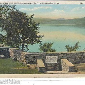 Ethan Allen Gate and Lake Champlain-Fort Ticonderoga,New York