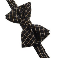 ASOS Bow Tie with Gold Grid Check at asos.com