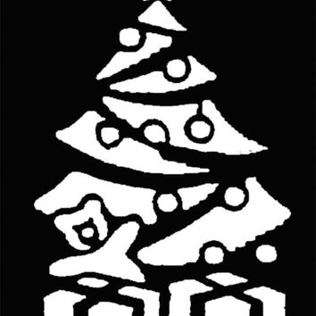 Stencil Xmas Tree Brass