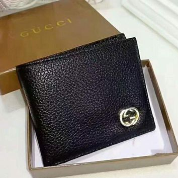 DCCKN6V Gucci Men Wallets   Leather Male Purse Small Wallets Money Bag G-LLBPFSH