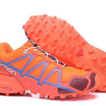 ESBONVX Salomon Women's Adidas Speed Cross 4 Trail Running Shoe Orange/Black US5-9.5