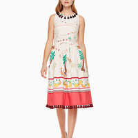desert fit and flare dress