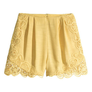 H&M Lace-trimmed Shorts $49.99