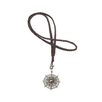 Diamond Lariat Compass Necklace