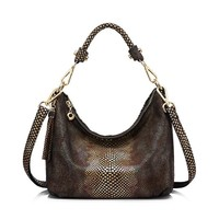 Faded Croc Skin Tote - Genuine Leather