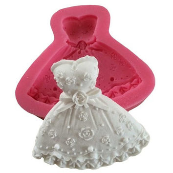 Wedding Dress Fondant Mould Cupcake Cake Fondant Craft Chocolate Mold [7981686407]