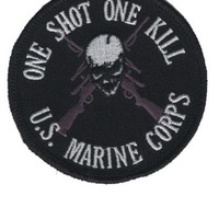 One Shot One Kill - US Marine Corps Patch