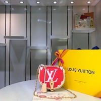 Kuyou Gb29824 Louis Vuitton Lv M44586 Chain Wallet Red Monogram Giant Messenger Bag