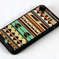 Ethnic Geometric iPhone 4 and iPhone 4S Case,Rubber Material Full Protection