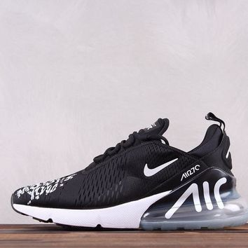 HCXX Nike Air Max 270 Moves You Causal Running Shoes Portugal Black White