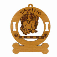 3938 Sheltie Jumping Ornament Personalized with Your Dog's Name