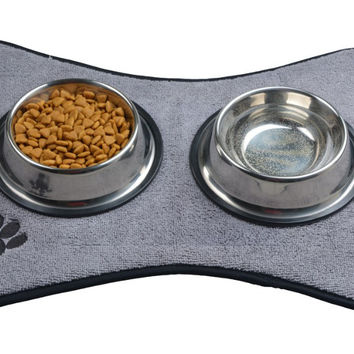 IMPAW Gray Pet Feeding Placemat