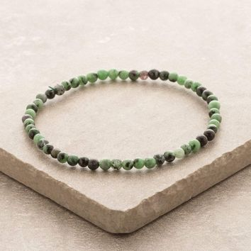 Ruby Zoisite Mini Gemstone Energy Bracelet