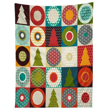 Sharon Turner Geo Christmas Tapestry