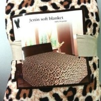King Cheetah Fleece Blanket Brown Leopard Soft Plush Animal Print Microfiber Throw Blankets