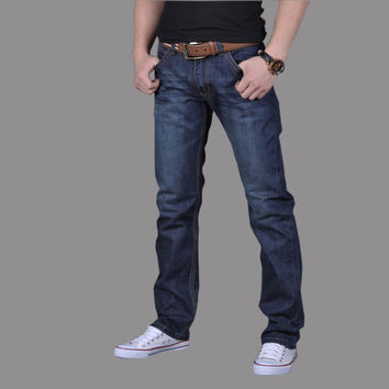 Summer Men Plus Size Pants Casual Denim Jeans [6528759619]