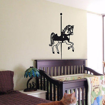 KIDS WALL ART STICKER BABY ROOM NURSERY BOY GIRL BEDROOM HORSE PONY 29