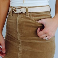 I'll Be Here Skirt: Tan