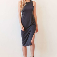 Silence + Noise Knit Side-Slit Bodycon Midi Dress - Urban Outfitters