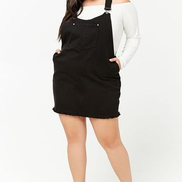 Plus Size Denim Overall Dress