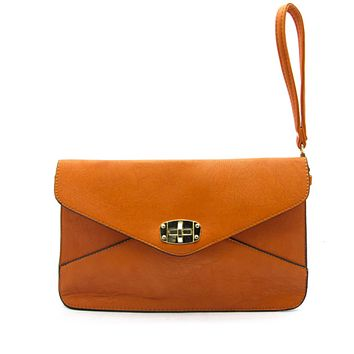 Edie Twist Lock Crossbody Clutch
