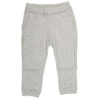 Monnalisa - Baby Girl Sweatpants With Rhinestones, Grey - 12M