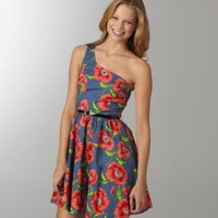 B. Darlin Floral-Print One-Shoulder Dress | Dillards.com