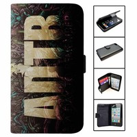 a day to remember logo Music wallet case for iphone 4,4s,5,5s,5c,6 and samsung galaxy s3,s4,s5