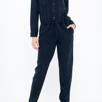 Mackenzie Tencel Jumpsuit in Navy