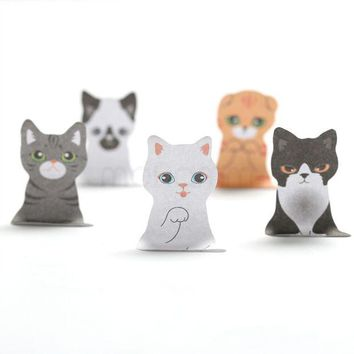 VONC1Y 3D Cartoon Kawaii Scrapbooking Cat Dog Box Stickers Cute Korean Stationery Sticky Notes Office School Supplies Post It Memo Pad