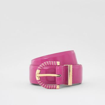 Pink wrapped buckle jeans belt - Belts - Accessories - women