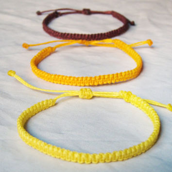 Macrame surf multicolor friendship bracelet, stacking unisex, men square knot beach, Pick color, burgundy,yellow, ethnic,tribal medierranean