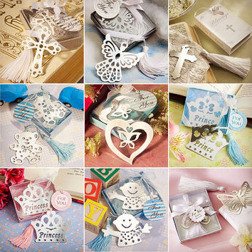 Cute Kawaii Heart Flower Metal Bookmark Lovely Crown Angel Clips For Gift Creative Products Korean Stationery Free Shipping 425