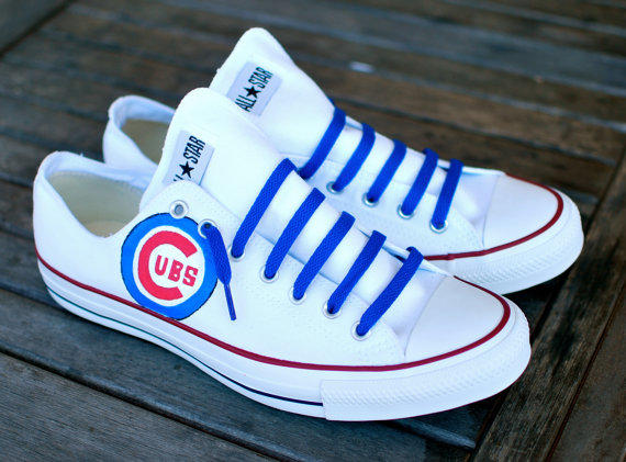 Custom Hand Painted Converse Chicago From B Street Shoes