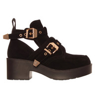 Ark for Women Ark Black Suede Bruges Cut Out Ankle Boots