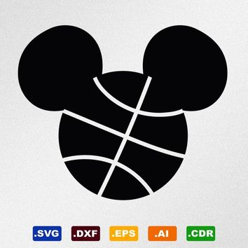 16fbee2e1c4 Mickey Mouse Basketball Svg, Dxf, Eps, Ai, Cdr Vector Files for