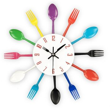 Cutlery Design Wall Clock