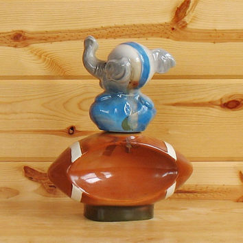 Jim Beam Republican elephant- football decanter