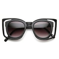 Unique Double Frame Square Womens Fashion Sunglasses 9417