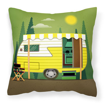 Greatest Adventure Retro Camper Fabric Decorative Pillow BB5478PW1818