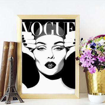 VOGUE PRINT Vogue Fashion Illustration,More Issues Than Vogue,Fashionista,Fashion Print,Printable Art,Vogue Art,Vogue Magazine Cover